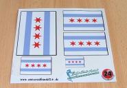 Aufkleberbogen Chicago