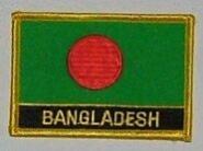 Aufnäher Bangladesh mit Schrift
