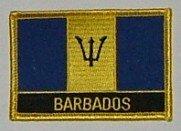 Aufnäher Barbados mit Schrift