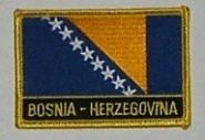 Aufnäher Bosnien Herzegowina mit Schrift
