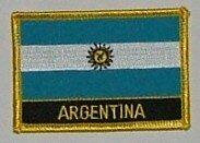 Aufnäher Argentinien mit Schrift