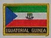 Aufnäher Äquatorial Guinea mit Schrift