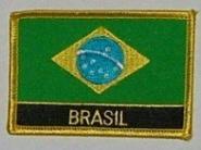 Aufnäher Brasilien mit Schrift