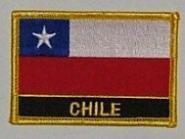 Aufnäher Chile mit Schrift