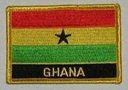 Aufnäher Ghana mit Schrift