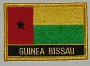 Aufnäher Guinea Bissau mit Schrift