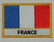 Aufnäher Frankreich mit Schrift