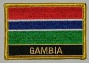 Aufnäher Gambia mit Schrift