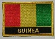 Aufnäher Guinea mit Schrift
