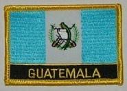 Aufnäher Guatemala mit Schrift
