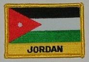 Aufnäher Jordanien mit Schrift