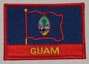 Aufnäher Guam mit Schrift