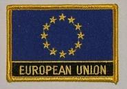 Aufnäher Europa mit Schrift