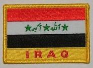 Aufnäher Irak mit Schrift