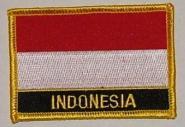 Aufnäher Indonesien mit Schrift