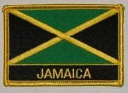 Aufnäher Jamaika mit Schrift