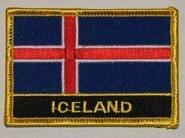 Aufnäher Island mit Schrift