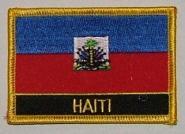 Aufnäher Haiti mit Schrift