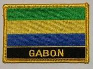 Aufnäher Gabun mit Schrift