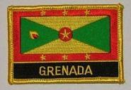 Aufnäher Grenada mit Schrift