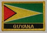 Aufnäher Guyana mit Schrift