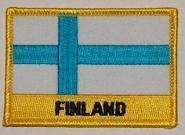 Aufnäher Finnland mit Schrift
