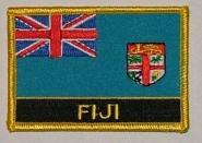 Aufnäher Fidschi / Fidji mit Schrift