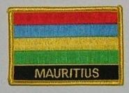 Aufnäher Mauritius mit Schrift