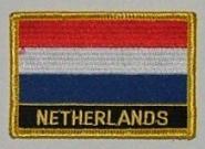 Aufnäher Niederlande mit Schrift
