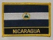 Aufnäher Nicaragua mit Schrift