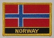 Aufnäher Norwegen mit Schrift
