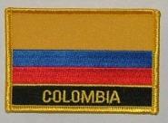 Aufnäher Kolumbien mit Schrift