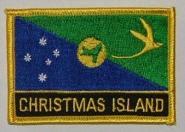 Aufnäher Weihnachtsinsel / Christmas Island mit Schrift