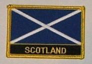 Aufnäher Schottland mit Schrift