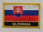 Aufnäher Slowakei mit Schrift