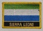 Aufnäher Sierra Leone mit Schrift