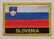 Aufnäher Slowenien mit Schrift