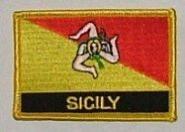 Aufnäher Sizilien mit Schrift