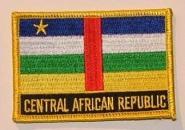 Aufnäher Zentral Afrikanische Republik mit Schrift