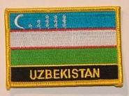 Aufnäher Usbekistan mit Schrift