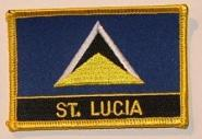 Aufnäher St. Lucia mit Schrift