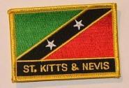 Aufnäher St. Kitts & Nevis mit Schrift
