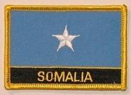 Aufnäher Somalia mit Schrift