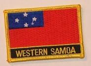 Aufnäher West Samoa mit Schrift
