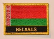 Aufnäher Belarus Weissrussland mit Schrift