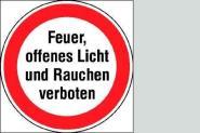 Feuer, offenes Licht undn Rauchen verboten 20 cm