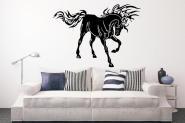 Wandtattoo Flamed Mustang schwarz | XL