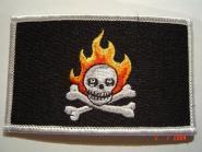 Aufnäher Pirat Flaming Skull