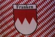 Fahne Franken Raute mit Schrift 90 x 150 cm