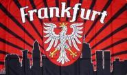 Fahne Frankfurt Fan Skyline 90 x 150 cm